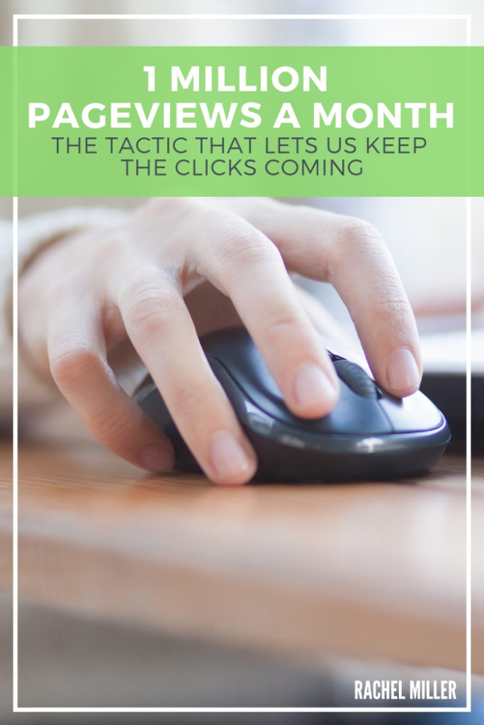 The one change we implemented that changed our pageviews. #RachelMiller #BlogStrategy #Pageviews