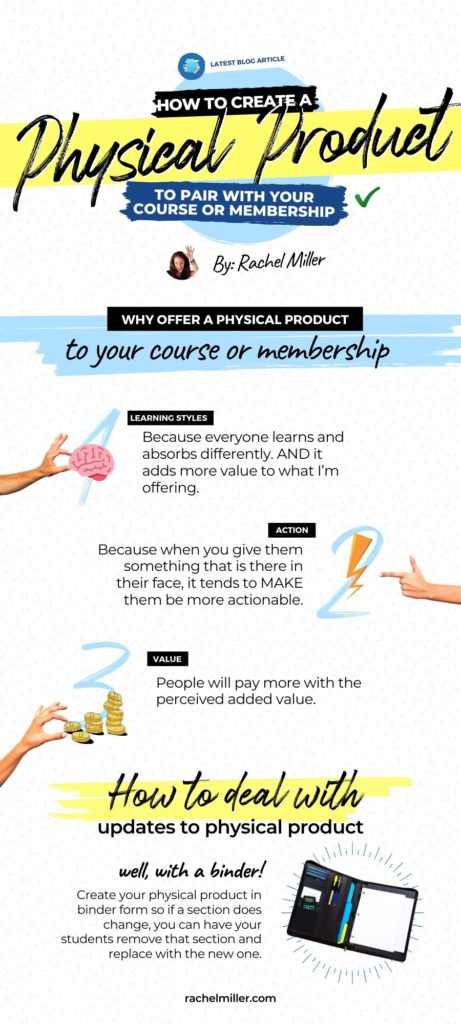 Why offer a physical product with your course or membership